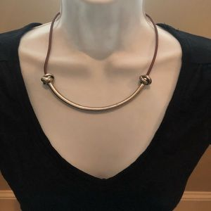 And Taylor loft silver bar necklace